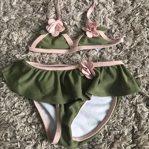 Greendog 18 Months 2-Piece Suit Green & Pink
